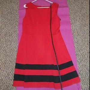 Calvin Klein Black & Red Dress NWT